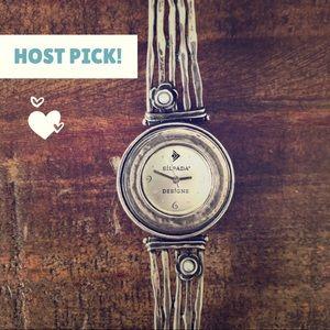 Pearl Hammered Sterling Vintage Silpada Watch